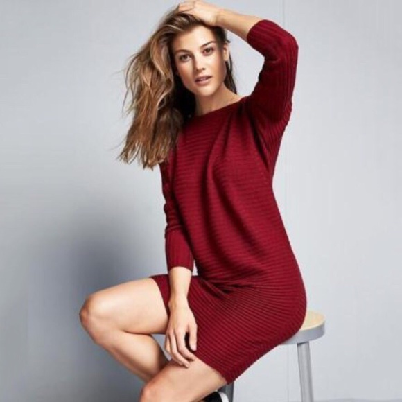 0aa97cc5c02 Athleta Dresses   Skirts - Athleta wine ribbed wool sweater dress M